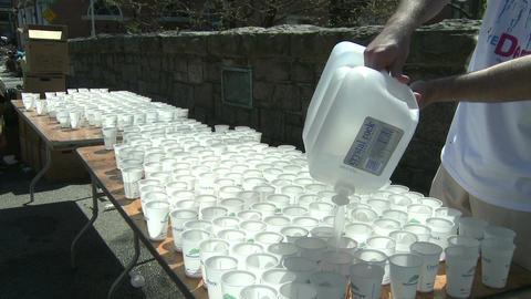 Marathon hydration (3 of 4) Stock Video Footage