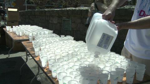 Marathon hydration (3 of 4) Footage