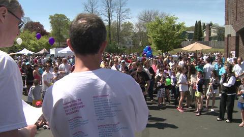 Marathon festivities (1 of 13) Stock Video Footage