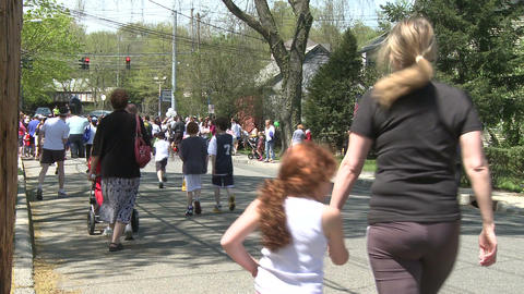 Marathon festivities (7 of 13) Stock Video Footage