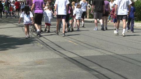Large marathon crowd (8 of 12) Stock Video Footage