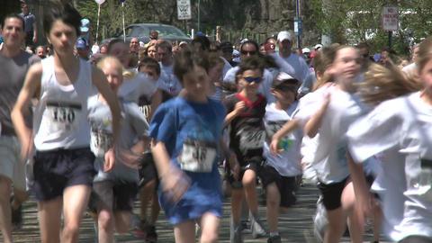 Large marathon crowd (6 of 12) Stock Video Footage