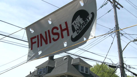Crossing the finish line (2 of 3) Stock Video Footage
