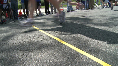 Ground view of marathon (7 of 7) Stock Video Footage