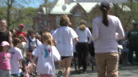 Marathon festivities (13 of 13) Stock Video Footage