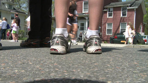 Ground view of marathon (3 of 7) Stock Video Footage