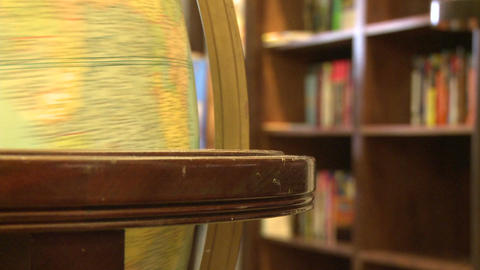 Close-up of globe (3 of 3) Stock Video Footage