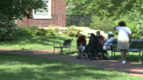 Enjoying a beautiful day at the park (2 of 5) Stock Video Footage