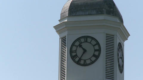 Building with large clock tower (1 of 3) Stock Video Footage