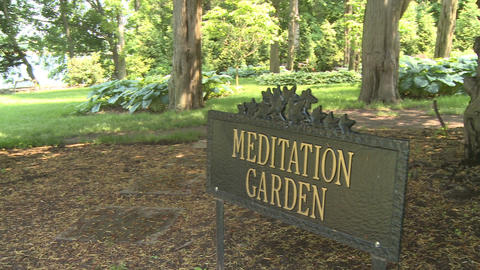 Beautiful meditation garden (6 of 7) Footage