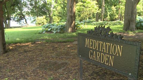 Beautiful meditation garden (6 of 7) Stock Video Footage