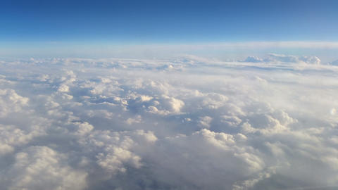 Flying over the clouds Footage