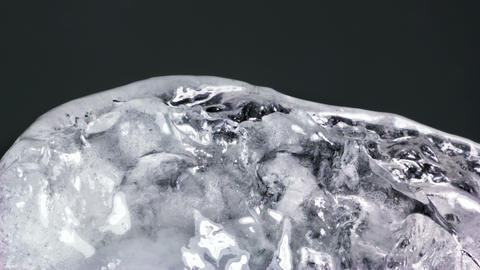 thawing ice close-up timelapse 4k (4096x2304) Footage