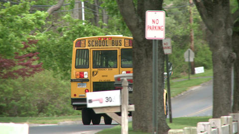 A school bus on its route Footage
