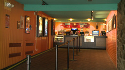 A small snack bar in a local movie house Footage