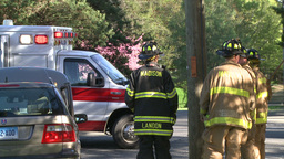 Emergency crews respond after an accident (3 of 8) Live Action