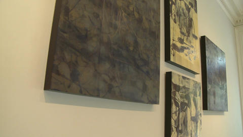 Inside upscale art gallery (4 of 7) Footage