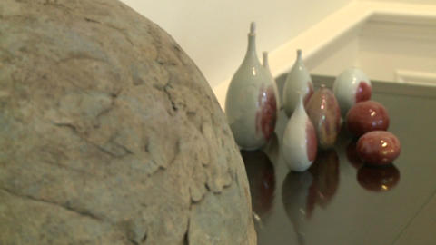 Close-up of pottery in art gallery (1 of 2) Footage