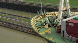 Cargo And Logistics Panama Canal Miraflores Locks 1 Footage