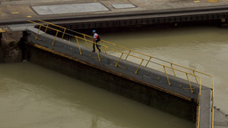 Cargo And Logistics Panama Canal Miraflores Locks 7 Footage