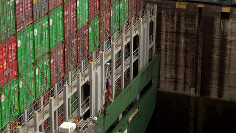 Cargo And Logistics Panama Canal Miraflores Locks 9 Footage