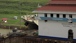 Cargo And Logistics Panama Canal Miraflores Locks 13 Footage