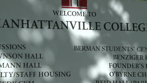 Manhattanville College sign (2 of 2) Live Action