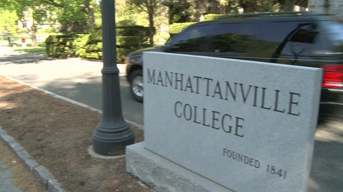 Manhattanville College sign (1 of 2) Live Action