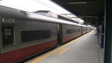 Passenger boarding train (1 of 2) Footage