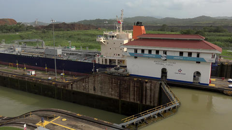 Cargo And Logistics Panama Canal Miraflores Locks 16 Footage