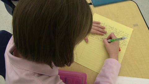 Grammar school students doing work in classroom (1 of 9) Footage