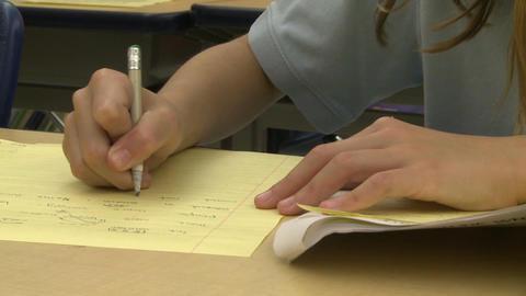 Grammar school students doing work in classroom (5 of 9) Footage
