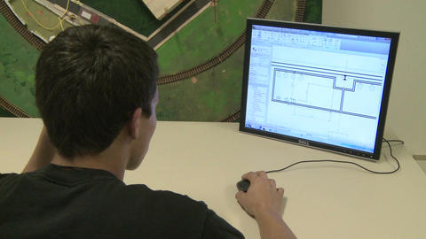 Middle school student Looking at computer screen (2 of 2) Footage