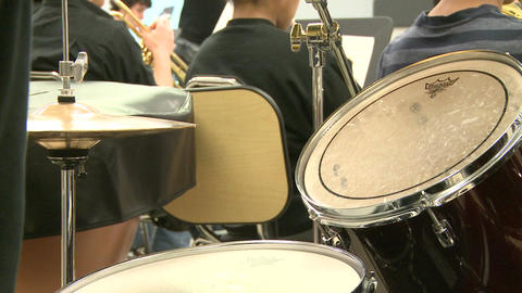 Middle school students practicing in Music Class (3 of 10) Footage