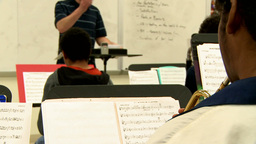 Middle school students practicing in Music Class (9 of 10) Footage