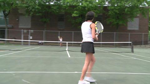 High school girls practicing tennis (3 of 5) Footage