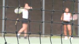 High school girls practicing tennis (4 of 5) Footage