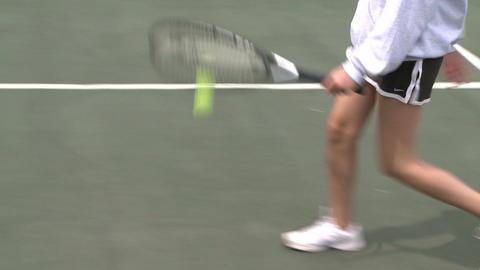 High school girls practicing tennis (2 of 5) Footage