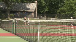 People practicing tennis Footage