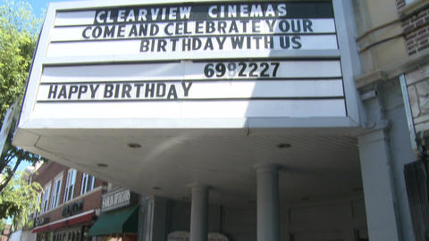 The front of a local cinema. (1 of 2) Footage