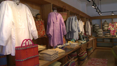 Displayed clothes in a boutique (2 of 2) Footage