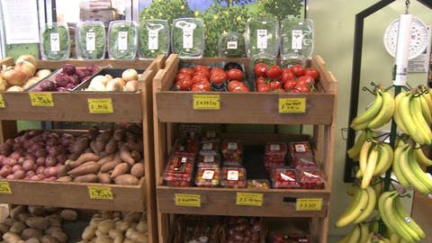 A produce market Footage