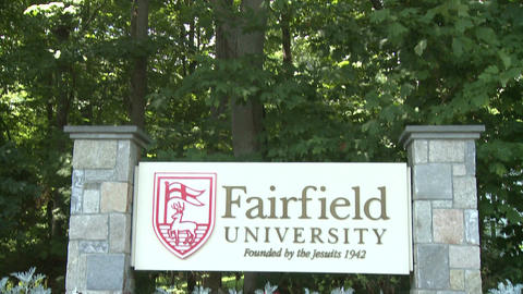 Fairfield University sign (2 of 3) Footage