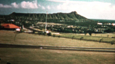 (8mm Vintage) 1955 Hawaii Diamondhead Undeveloped stock footage
