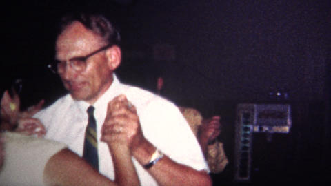 (8mm Vintage) 1967 Old People Spin Dancing At Wedding Footage