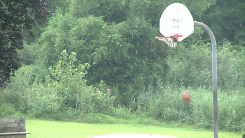 Shooting basketball at a park. (1 of 2) Footage