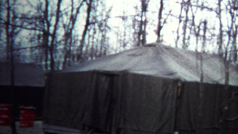 (8mm Vintage) 1974 Secret Government Base Tent Camps Footage