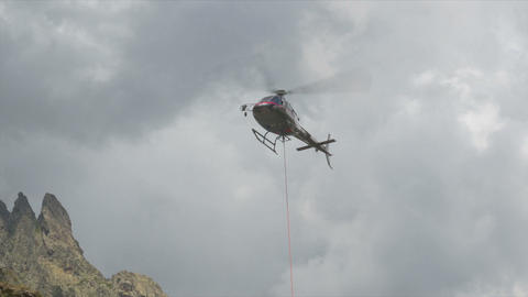 FullHD, Helicopters in Restonica Valley, Corsica Footage