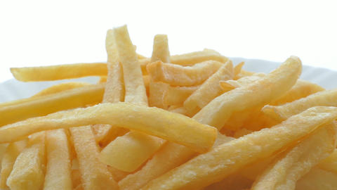 4k, French fries background, closeup shot Footage