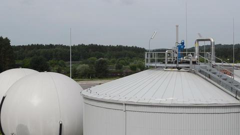 biogas process plant tanks reservoirs renewable sludge energy Live Action
